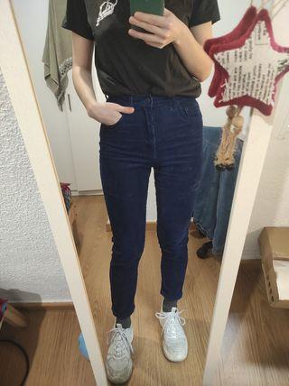Pantalones de pana azul marino