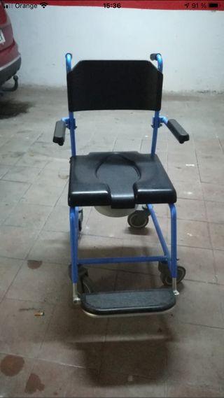 Silla wc con ruedas usada pocas veces