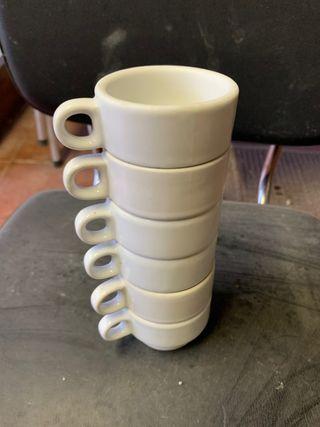 6 Pocillos de cafe Blancos