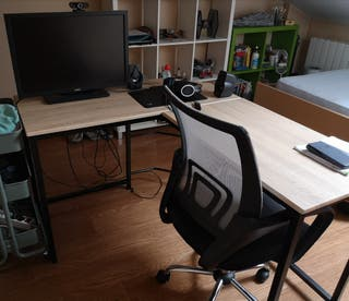 Mesa despacho esquinera
