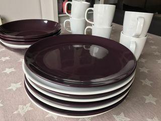 Vajilla platos hondos + platos llanos