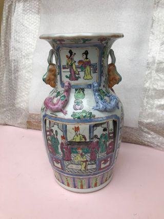 Jarrón chino porcelana