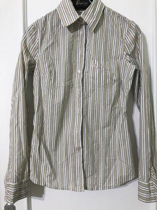Camisa Benetton de vestir rayas verticales
