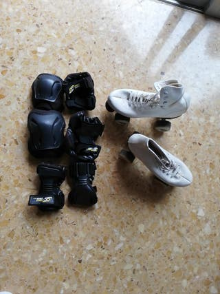 patines y rodilleras