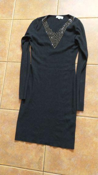 vestido negro canale talla única ceñido