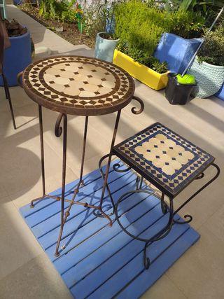mesas interior exterior
