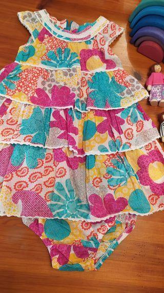 Vestido+ braguitas verano volantes Prenatal 2 años