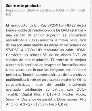 DVD LG HDMI dolby nuevo!