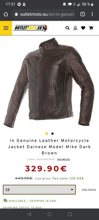 Chaqueta moto dainese Mike