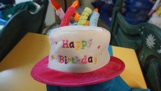 sombrero cumpleaños 5 velas
