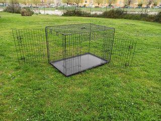 Jaula transportin plegable para perros