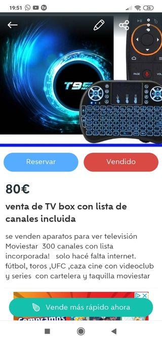 TV box con lista incluida todo los canales