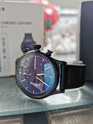 Reloj NIXON STATION CHRONO LEATHER nuevo
