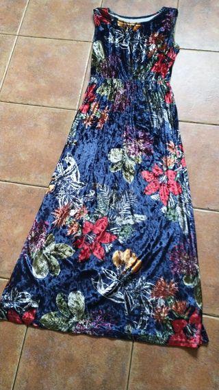 vestido largo de terciopelo talla única