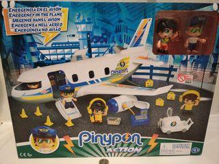 Pinypon Emergencia avión dos Figuras y accesorios