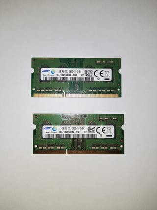 Memoria RAM DDR3 Samsung 8GB (4GB,s x 2) 2