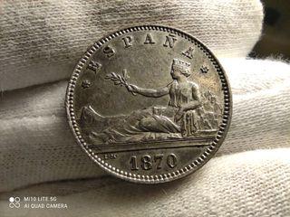 1 peseta Gob.Provisional 1870 *70