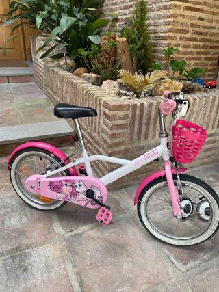 Bicicleta rosa niña decathlon