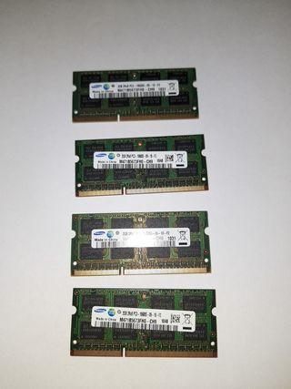 Pack Memoria RAM DDR3 Samsung 8GB (2GB,s x 4)