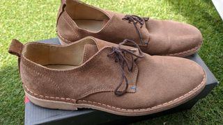 Zapatos antelina hombre