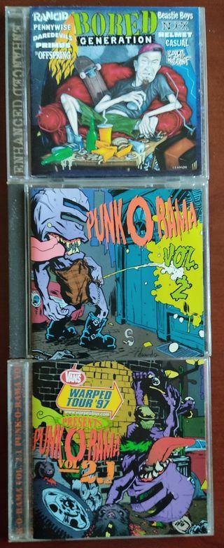 LOTE 3 CDS PUNK O RAMA+BORED GENERATION Punk Rock