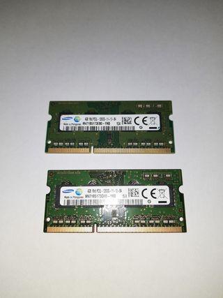 Memoria RAM DDR3 Samsung 8GB (4GB,s x 2) 7