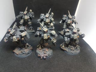 Imperio Tau Warhammer 40k todo pintado buen nivel