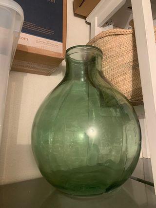 Jarrón Grande vidrio verde