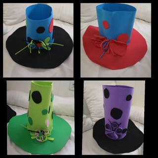 Conjunto 4 Sombreros Fiesta o Disfraz