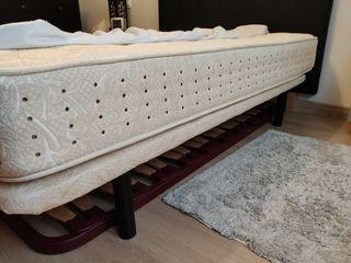 Somier tapizado y colchón 135