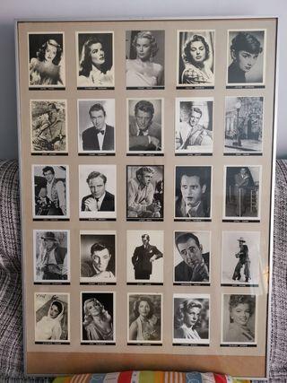 cuadro postales actores