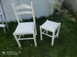 silla y taburete