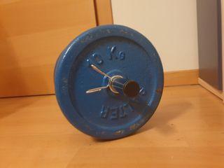 pesas/ 2 discos Salter de 10kg + barra
