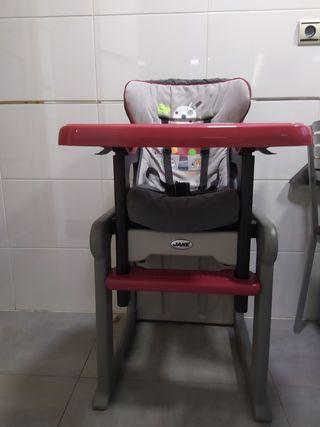 Trona Jane Evo convertible en mesa y silla