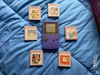Game Boy Color Morada + Juegos.