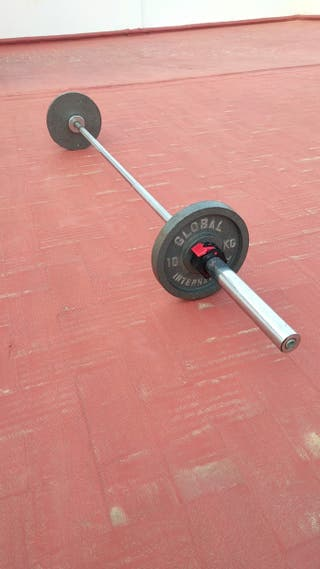 Barra olímpica 20 kg + 2 discos 10 kg