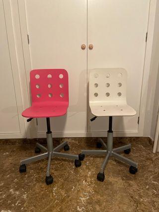2 sillas escritorio Ikea