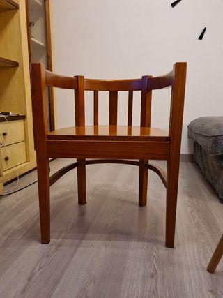 Silla-Sillon de escritorio madera semicircular
