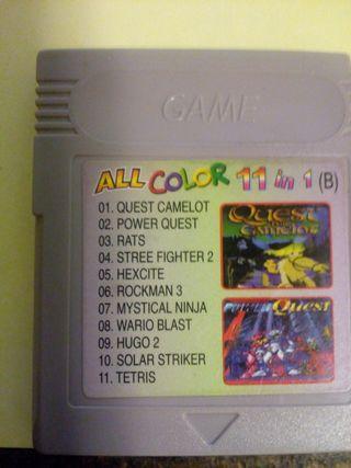 Juegos Game boy color 11 en 1.