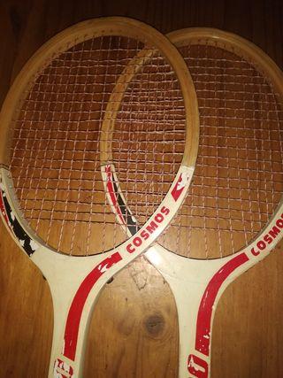 pareja de raquetas vintage
