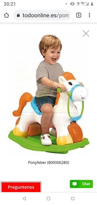 caballo balancín feber