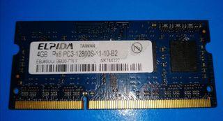 MEMORIA RAM PORTÁTIL ELPIDA 4GB 2RX8 PC3L SDRAM