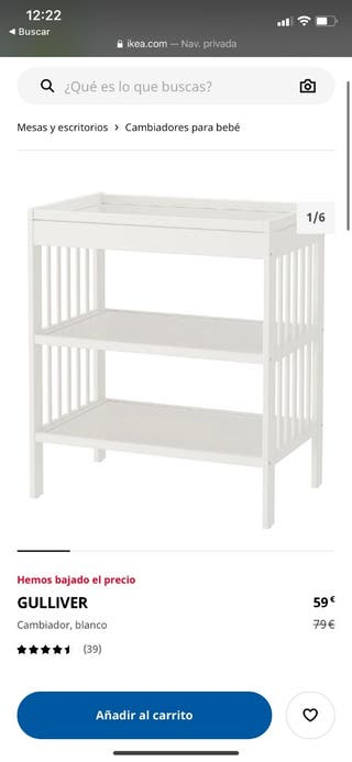 cambiador IKEA para bebes