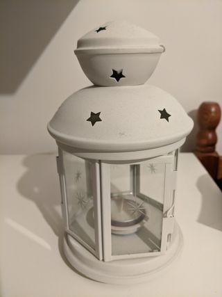 White decorative candle holder