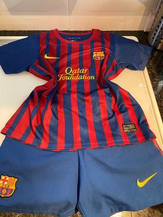 Equipación Barça de fútbol Talla 7-8 años