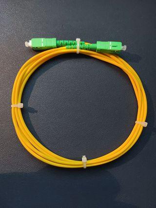 Cable Fibra Optica SC/APC a SC/APC Nuevo