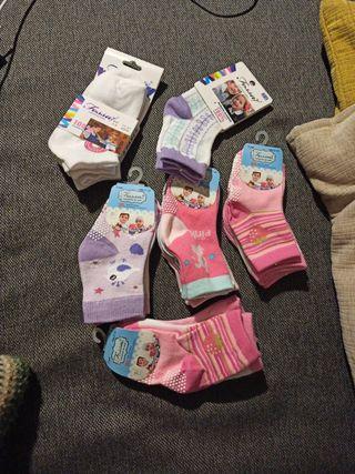 NUEVOS lote 16 pares calcetines niña