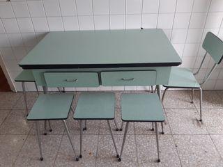 Conjunto cocina mesa vintage