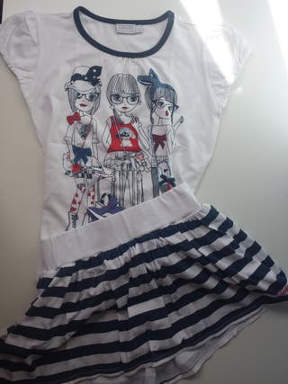 (359) Conj. falda-pantalón GEOX 10-12 años