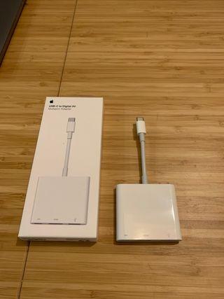 Adaptador Apple original USB-C a HDMI y USB